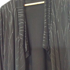 Woman's black with silver bling jacket